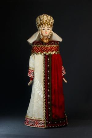 Кукла сувенирная фарфоровая. Княжеский византийский костюм.  6-8вв.