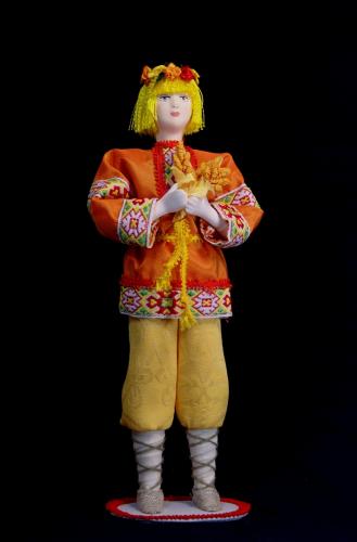 Кукла сувенирная фарфоровая. Июль. Сказочный персонаж.
