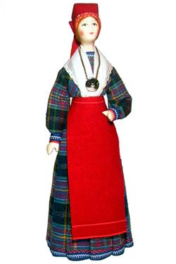 Эстонский праздничный костюм сер. 19в. Область: Rp