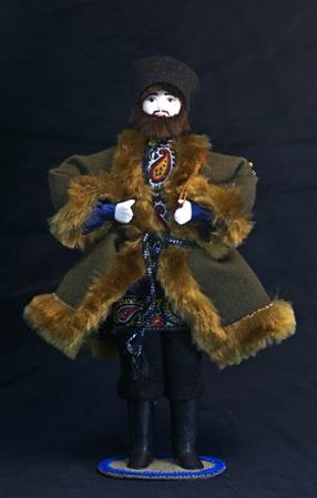 Кукла сувенирная фарфоровая. Ноябрь. Сказочный персонаж.