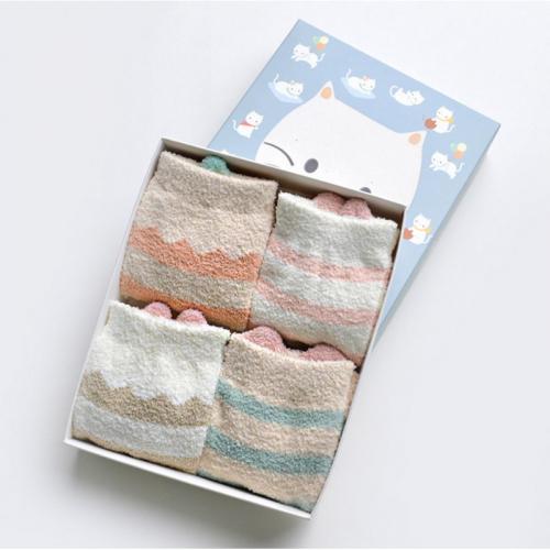 Набор мягких носков «Котик», 4 пары C514924