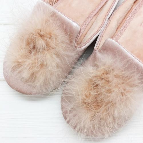 Тапочки «Пушистики» розовые H1390