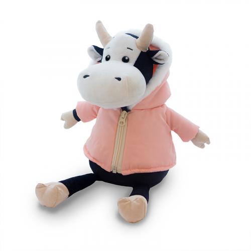 Мягкая игрушка MAXITOYS LUXURY Коровка Маша в розовой куртке 28 см