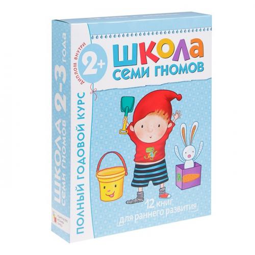 Полный годовой курс от 2 до 3 лет. 12 книг с картонной вкладкой. Денисова Д.