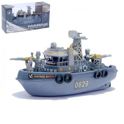 Катер «Морской патруль», работает от батареек, световые и звуковые эффекты
