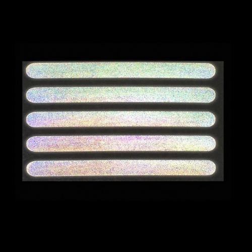 Светоотражающая термонаклейка «Полосы», 10 × 1 см, 5 шт на листе, цвет серый