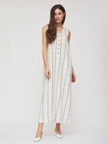 Свободное платье с поясом