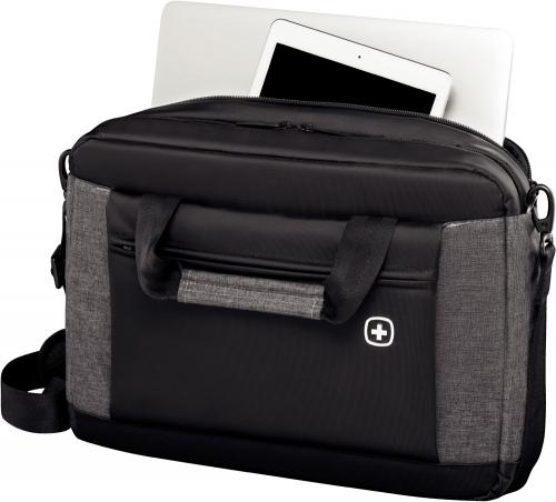 Портфель для ноутбука Wenger 16'', черный/серый, 43x9x31 см, 9 л
