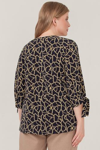 Блуза #233288Синий/цепочки