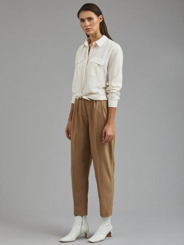 Рубашка из вискозы и льна