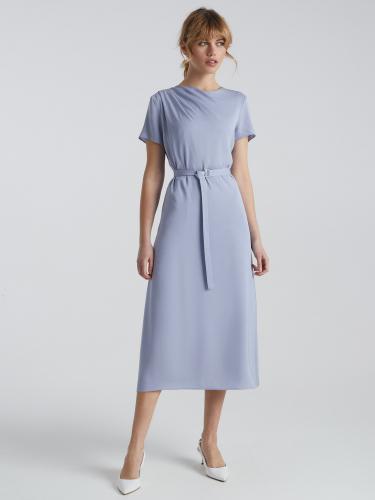Платье с драпировкой на плече