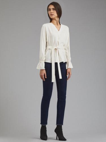 Блуза из вискозы и льна