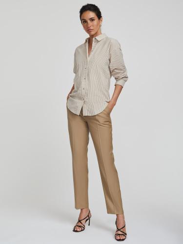 Рубашка в полоску с карманом