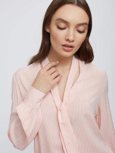 Блуза-боди в полоску с лентами