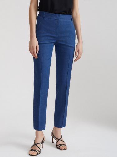 Льняные брюки прямого кроя