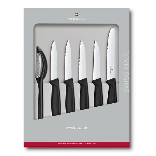 Набор Victorinox кухонный, 6 предметов, черный (подарочная упаковка)
