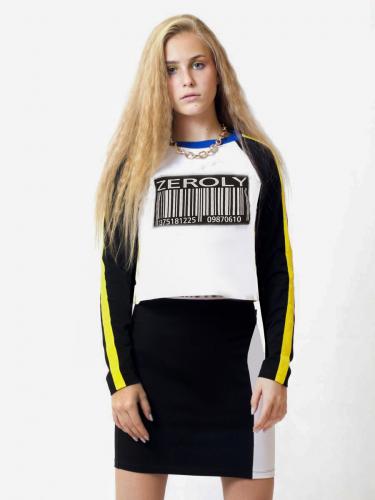 Комплект:свитшот укороченный и юбка прилегающего силуэта 201202002