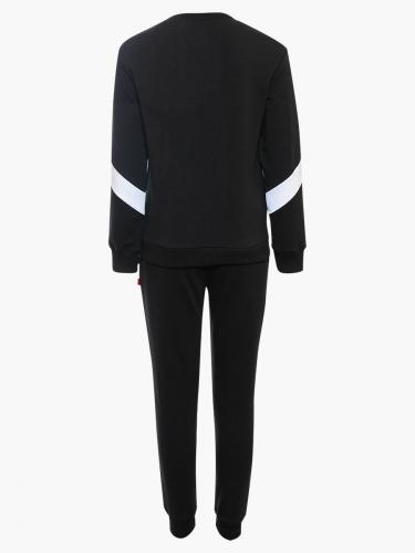 Костюм спортивный:свитшот и брюки прямые со средней посадкой НК202100901
