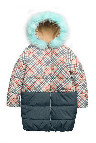Пальто #97090Бежевый