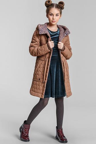 Пальто #75225Св.коричневый