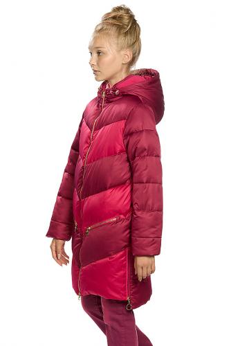 Пальто #146296Малиновый