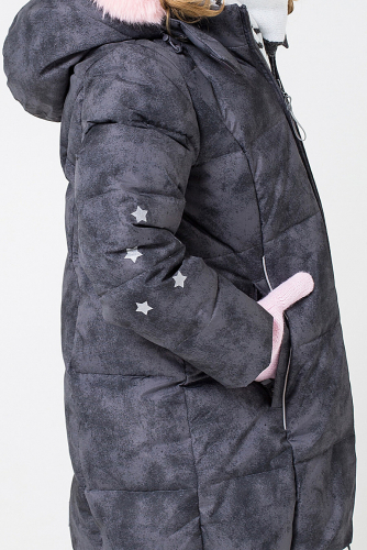 Пальто #154310Темно-серый
