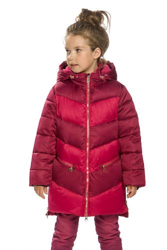 Пальто #146278Малиновый