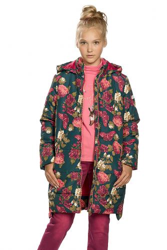 Пальто #146297Изумрудный