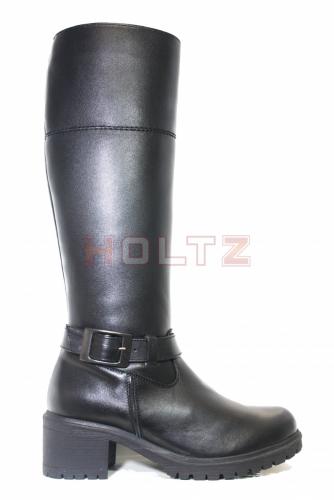 Женские зимние сапоги на устойчивом каблуке 8892 0-0-1