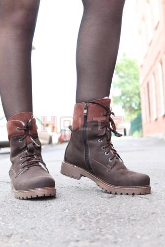 Зимние ботинки из нубука 8674 2-1-1 astra