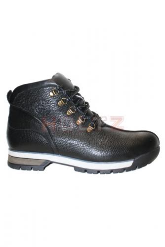 Зимние черные кожаные кроссовки 615