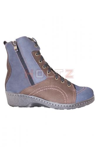 Женские зимние ботинки повышенной полноты 8675 3-1-1 XXL