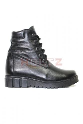 Женские зимние ботинки 128/2 из черной кожи
