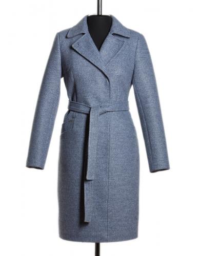 Блюз утепленное пальто Синий
