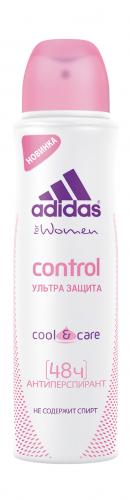 Adidas Антиперспирант спрей c&c control жен. 150 мл