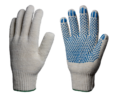 перчатки хб с пвх 4 нити 10 класс (точка)