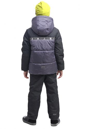 Куртка #115039Серый/Черный