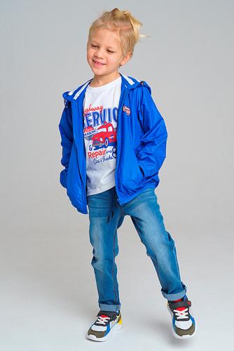 Комплект (Куртка+Джинсы) #282976Синий