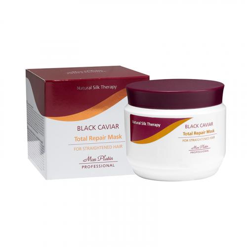 Mon Platin Professional Маска с экстрактом чёрной икры для выпрямленных волос 500 мл