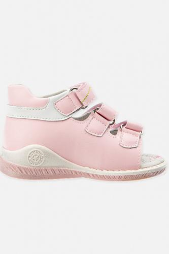 Сандали #185759Розовый перламутровый,белый