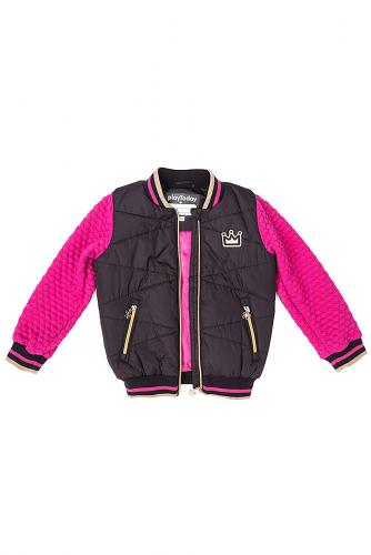 Куртка #107644Черный/Розовый