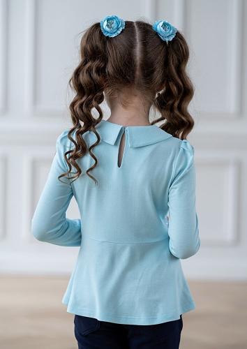 Блуза #207422Леда голубой