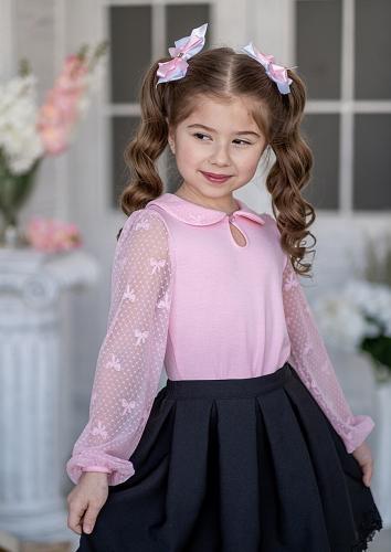 Блуза #198583Сильвия розовый