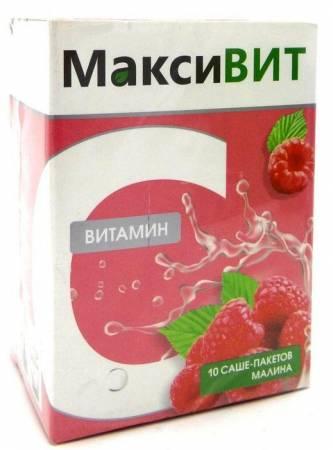 Напиток МаксиВИТ со вкусом малины (с витамином С)