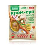59р. 120р.Крем-суп № 2 Овощной с курицей, грибами и гренками BI*OSEA Eco*Nutritif