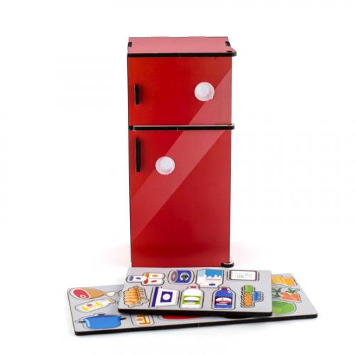 Сортер WOODLANDTOYS Холодильник, красный