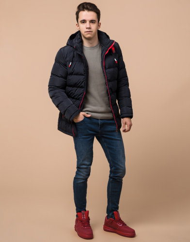 Темно-синяя куртка подростковая модель 75263