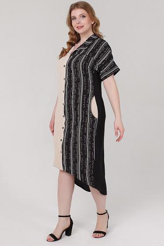 Платье #210417Бежевый/буквы