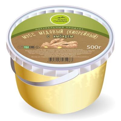 Мусс (крем-мед) из кипрея с имбирем, пл.б., 0.5кг.
