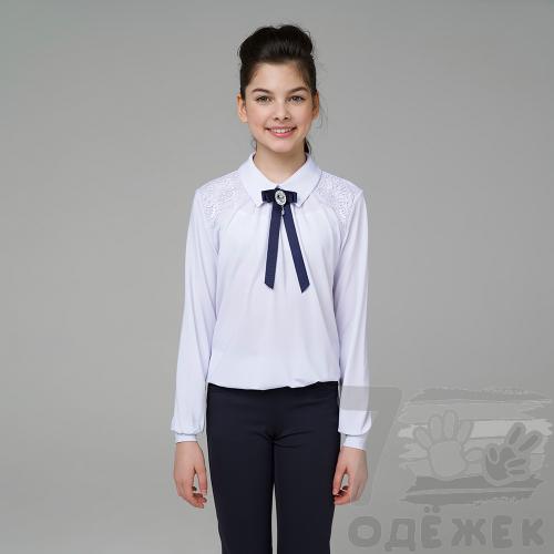 260 Блузка для девочки с длинным рукавом